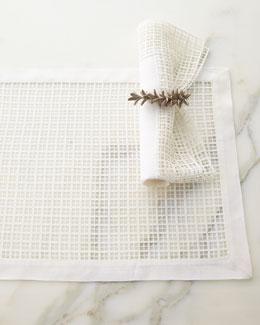 Lela Rose Linen & Lace Placemat & Napkin Set