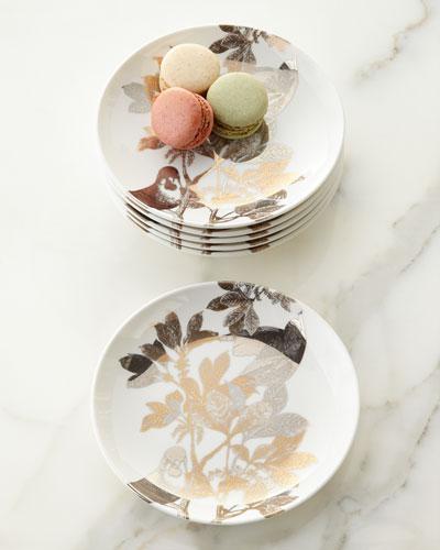 Six Arbor Canape Plates