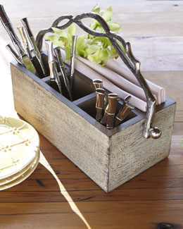 Weathered-Wood Flatware Caddy