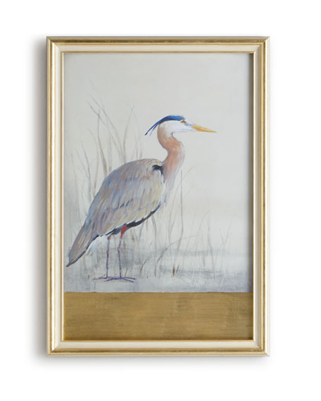 """Keeping Watch I"" (Right Facing) Heron Print"
