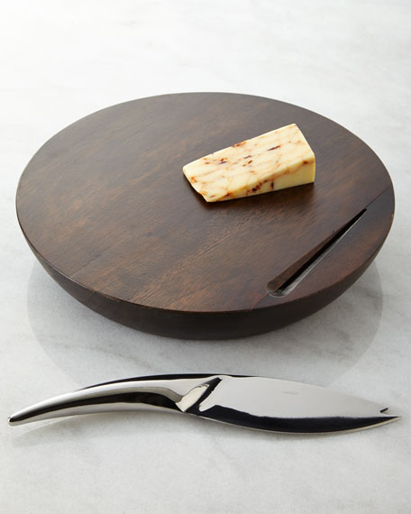 Espresso Harmony Cheese Board with Knife