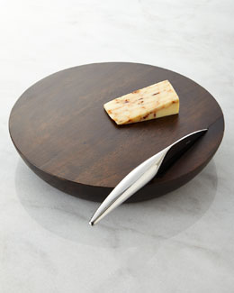 Nambe Espresso Harmony Cheese Board with Knife