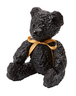 Daum Black Teddy Bear Sculpture