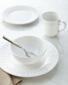 16-Piece Bella Mesa Calista White Dinnerware Service