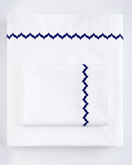 Bargello King 200TC Solid White Fitted Sheet
