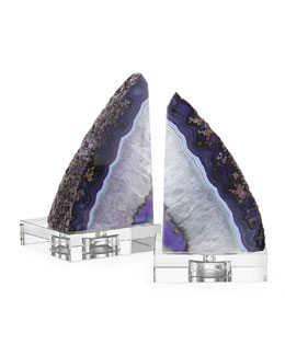 Regina-Andrew Design Purple Geode Bookends
