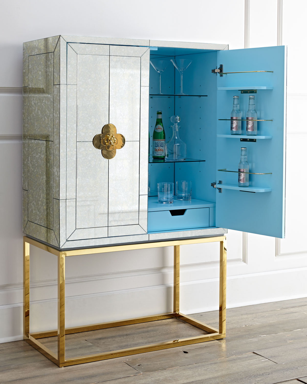 Jonathan Adler Delphine Mirrored Bar   Neiman Marcus