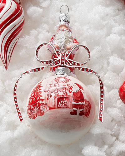 Patricia Breen Design Group Red & White Anniversary Orb Ornament