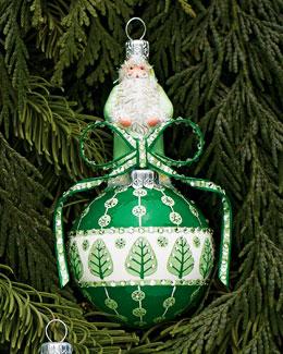Patricia Breen Design Group Green & White Anniversary Orb Ornament