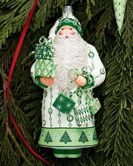 Patricia Breen Design Group McLemore Santa Ornament