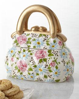 Quilted Handbag Cookie Jar