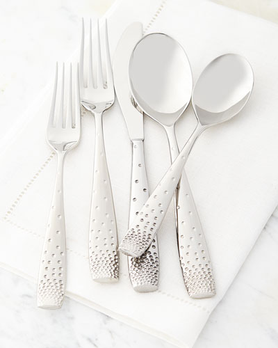 Five-Piece Tilt Dazzle Flatware Place Setting