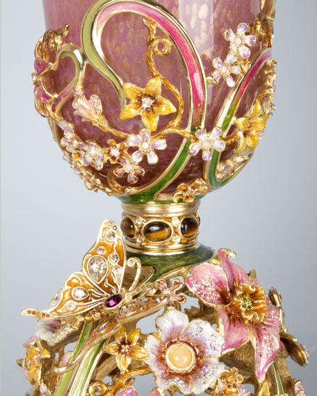 Corinne Floral & Scroll Vase