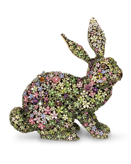 Jay Strongwater Lydia Mille Fiori Bunny Figurine