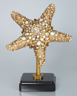 Jay Strongwater Bennett Starfish Object with Marble Base