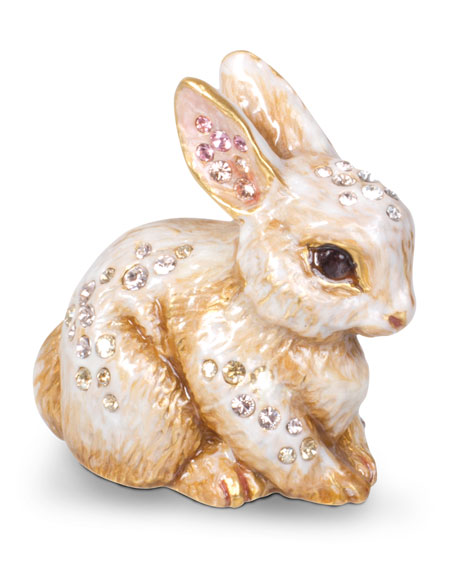 Jay Strongwater Emmy Bunny Mini Figurine