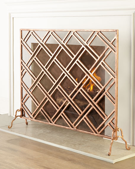Neimanmarcus Layla Fireplace Screen
