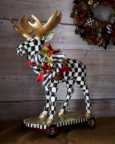 MacKenzie-Childs Moose on Parade Figure