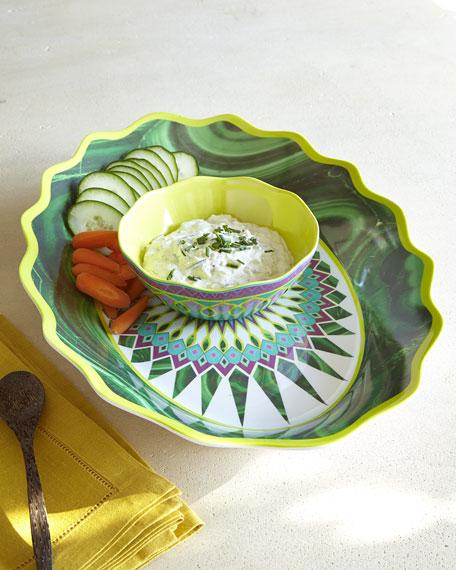 Moroccan Melamine Chip & Dip