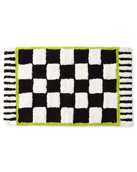 MacKenzie-Childs Courtly Check?? Bath Rug