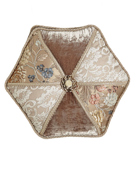 Dian Austin Couture Home French Chantilly Hexagonal Patch