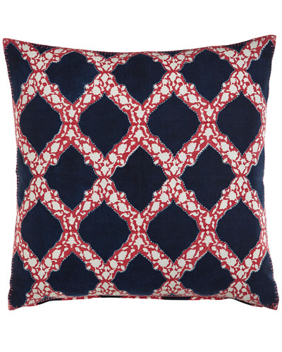 Dahlia Lattice Pillow