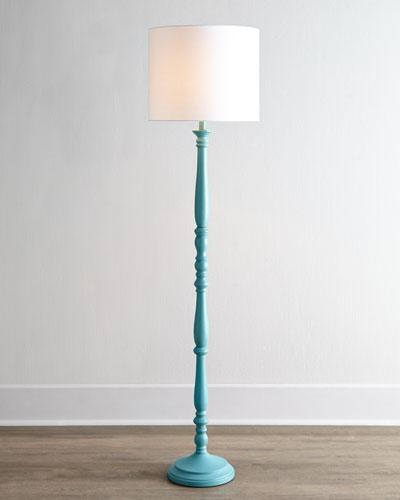 Teal Courtney Floor Lamp