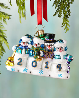 Christopher Radko A Snow-mazing Year Christmas Ornament