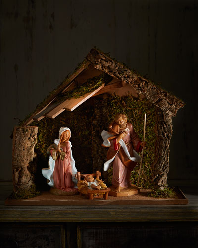 Holy Family with Stable