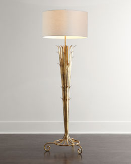 John-Richard Collection Sedgwick Golden Reed Floor Lamp