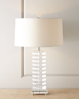 John-Richard Collection Acrylic Blocks Lamp