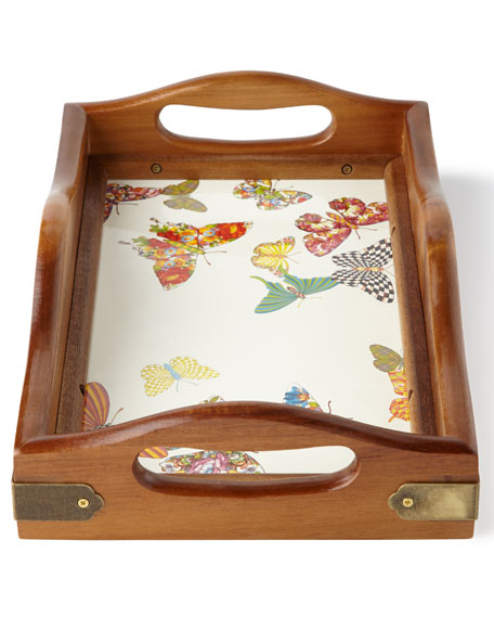 Small Butterfly Garden Hostess Tray