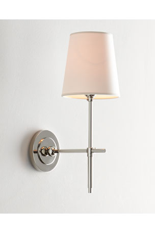 Thomas O'Brien Bryant Sconce with Polished Nickel Finish