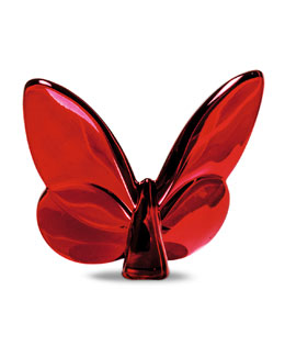 Baccarat Lucky Red Mirror Butterfly