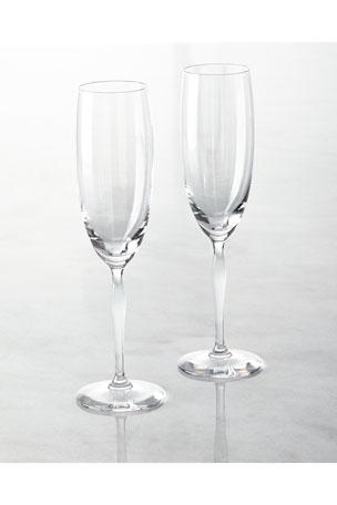 Lalique 100 Points Champagne Flutes, Set of 2