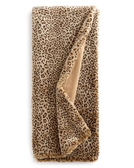Dian Austin Couture Home Queen Snow Leopard Faux-Fur
