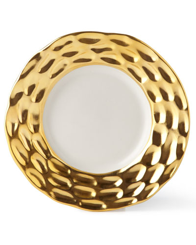 Truro Gold Bread Plate