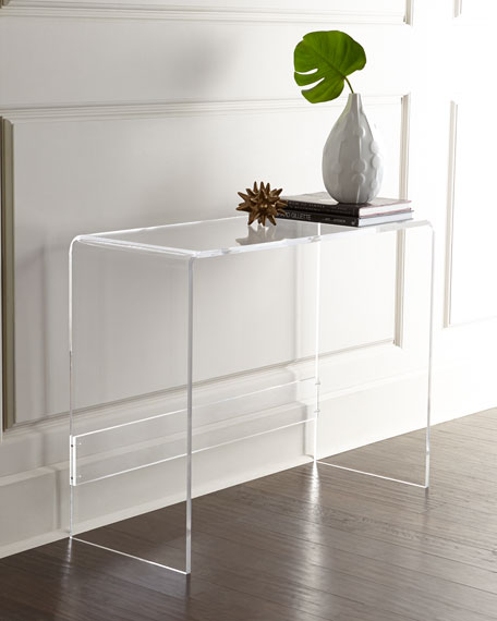 Carillo acrylic console - Console plexiglas transparent ...