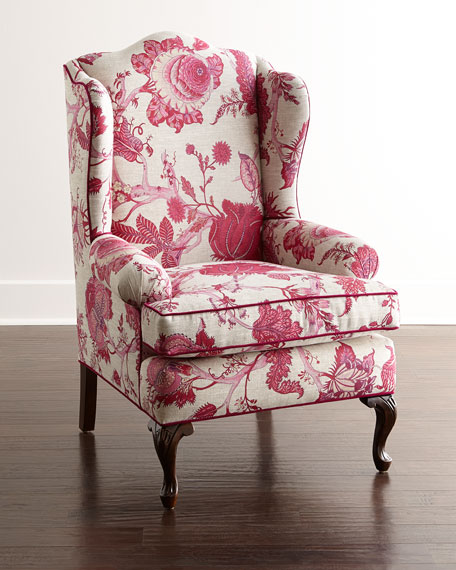 Haute House Priscilla Wing Chair, Bissett Side Chairs,