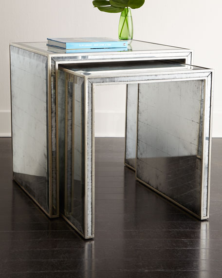 Eglomise Nesting Side Tables