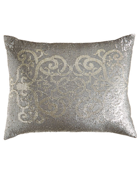 "Sequined Pillow, 20"" x 26"""