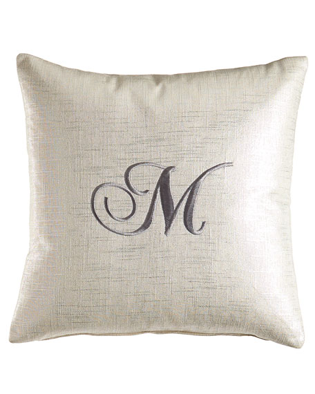 Pillow with Embroidered Initial, 17