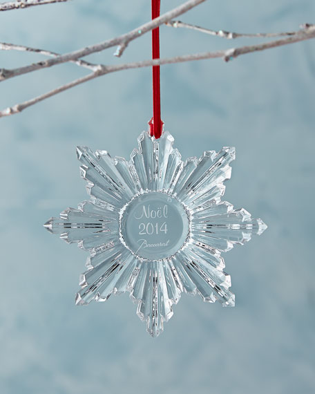 - Baccarat 2014 Annual Clear Snowflake Christmas Ornament