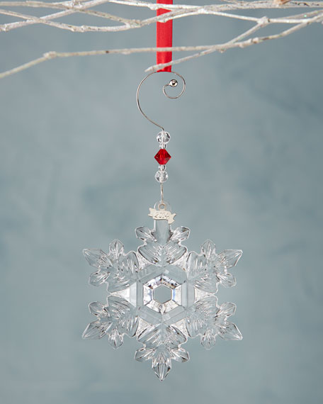 Waterford Crystal Christmas Ornaments.2014 Snow Crystal Christmas Ornament