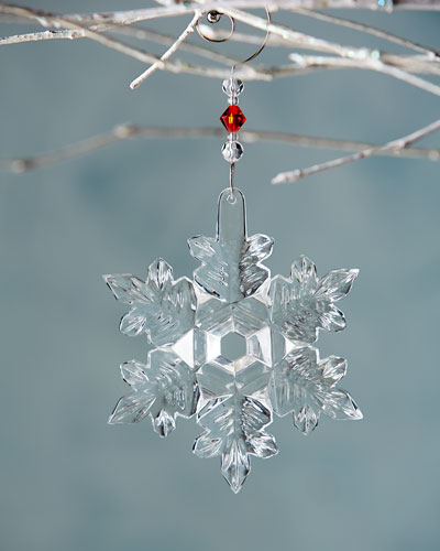 Waterford Crystal 2014 Snow Crystal Christmas Ornament