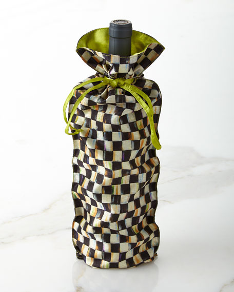 MacKenzie-Childs Courtly Check Wine Bag