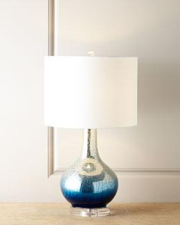 Blue Mercury Genie Bottle Lamp