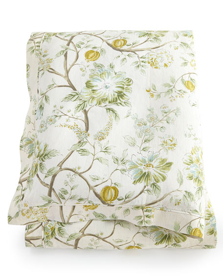 legacy home queen errington floral duvet cover 90 x 96. Black Bedroom Furniture Sets. Home Design Ideas
