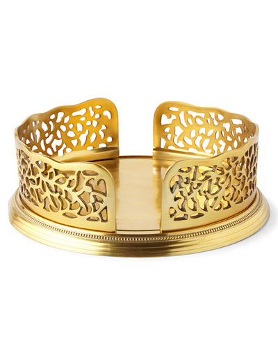 Gold-Tone Pierced Dinner Plate Holder
