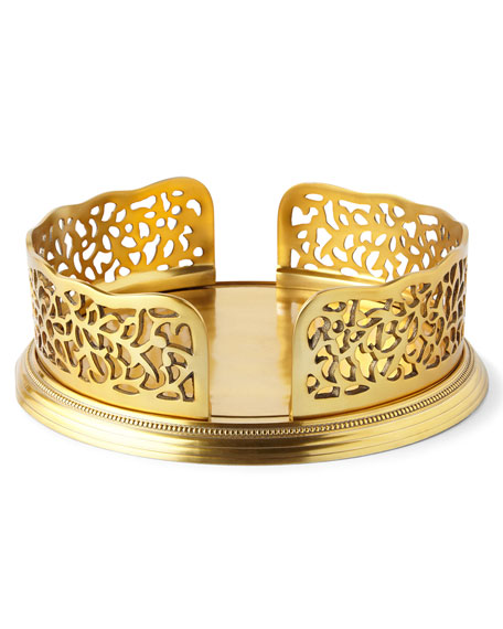 Godinger Gold-Tone Pierced Dinner Plate Holder